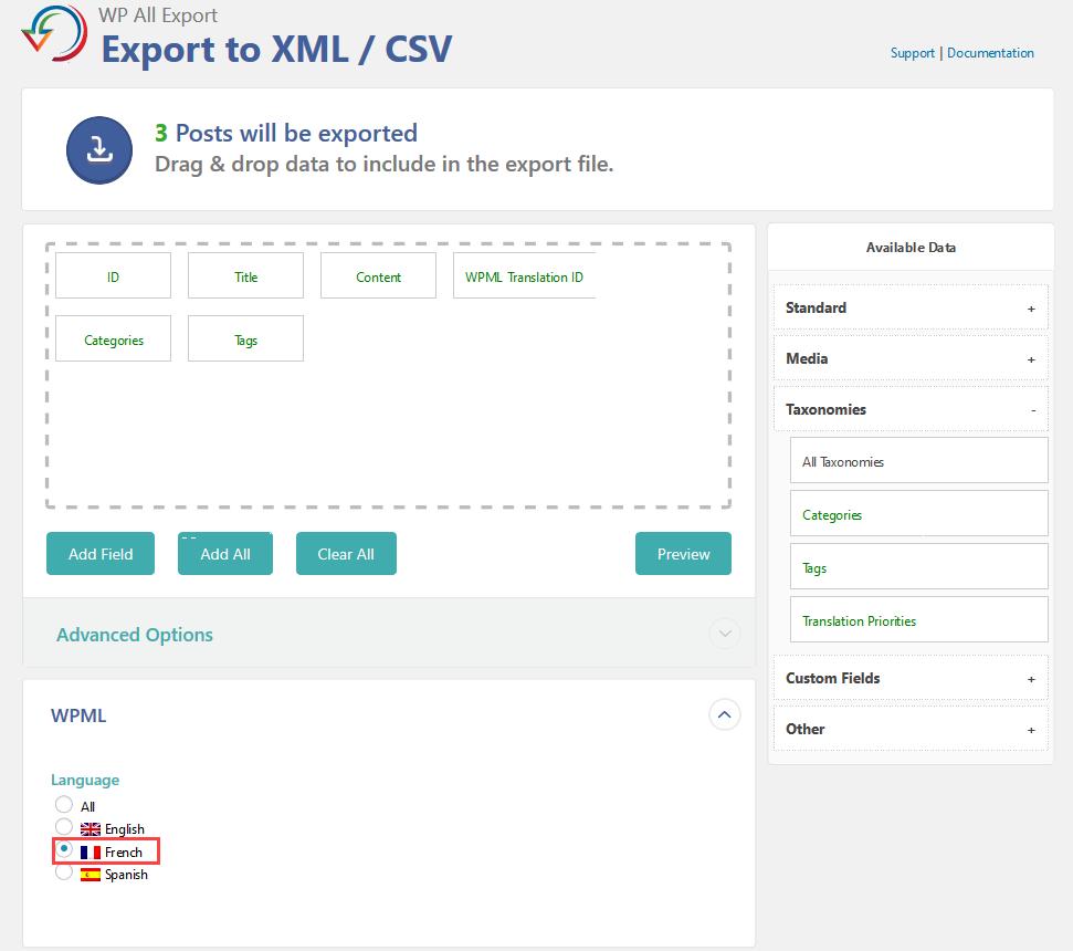 Export Multilingual Websites Using WP All Export and WPML - WPML