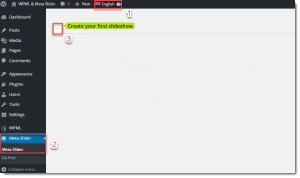 Creat default language slider