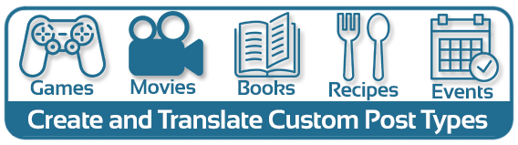 Create and translate custom post types