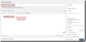 English slider page