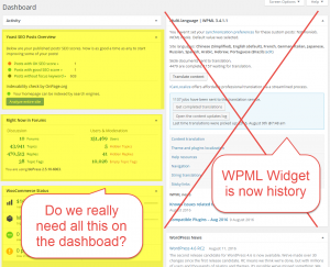 """How many widgets with """"useful information"""" appear on your Admin Dashboard? Could they be slowing down sites?"""