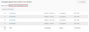 Trabajos de traducción en progreso luego de ser enviados a traducir