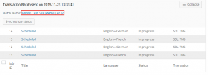 Translation Jobs in progress after being submitted for translation