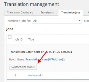 Checking for canceled translation jobs