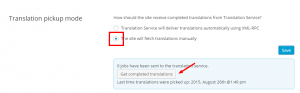 Controllo dei lavori annullati nella modalità di raccolta manuale delle traduzioni