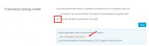 Verificar los trabajos cancelados en el modo de recuperación de traducciones manual