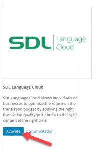 Attivazione di SDL