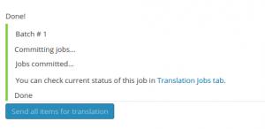 Documents have been sent for translation
