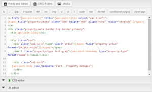 Setting up a View - 3. Design the output using HTML