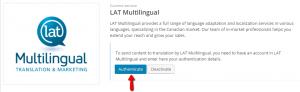Autenticação do LAT Multilingual