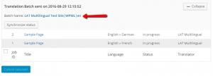 Lavori di traduzione in corso dopo averli inviati alla traduzione