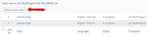Controllo dei lavori di traduzione annullati