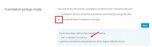 Verificação de trabalhos cancelados no modo manual de obtenção de traduções