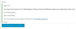 Contenuti del carrello inviati correttamente a LAT Multilingual
