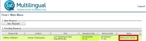 Nova solicitação criada usando o WPML