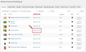 Adding or editing product translation from the main WooCommerce Multilingual page