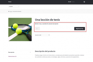 Translated subscription-related strings on the product page