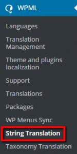 String translation module