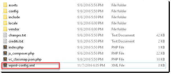 Criação do arquivo de configuração de idioma para o construtor de páginas