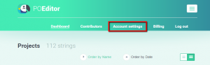 Account Settings (configurações da conta)