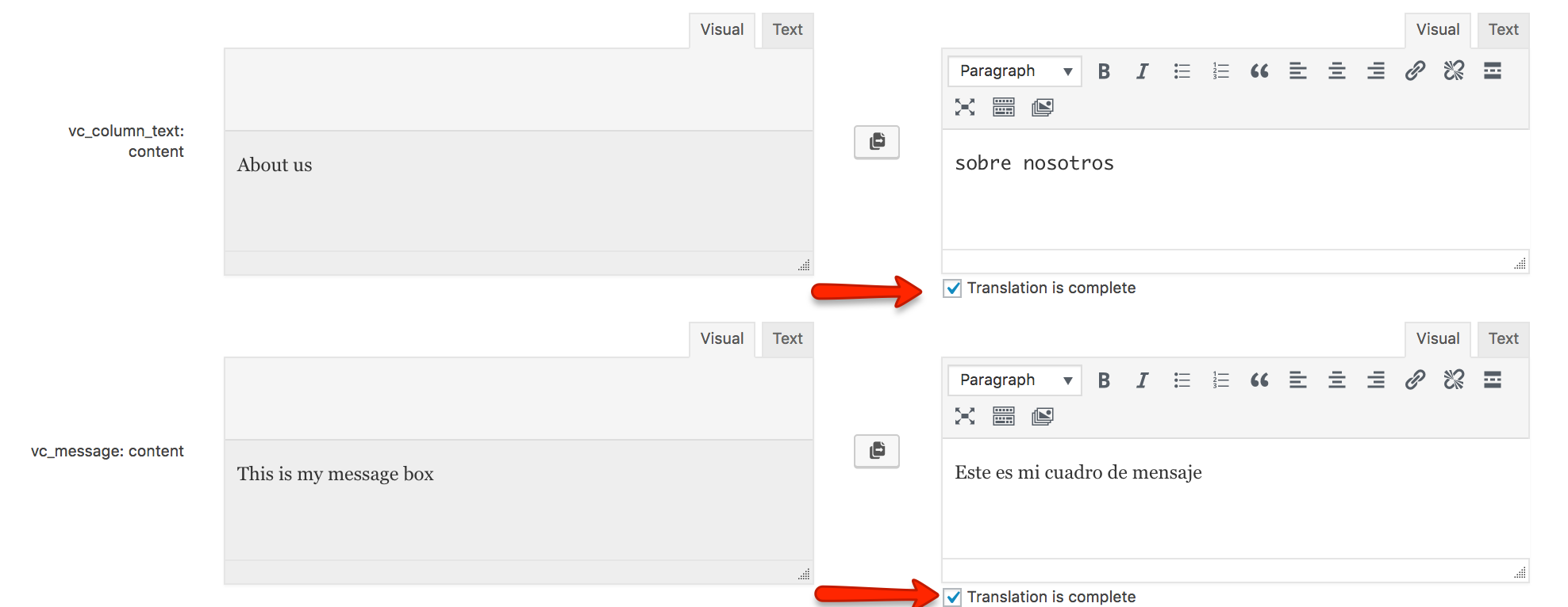 Using WPML to translate page builder