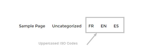 Custom language switcher with ISO codes