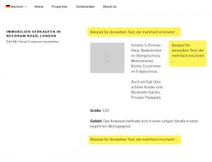 Переведенные повторяющиеся тексты, размещенные в нужных местах во внешнем интерфейсе