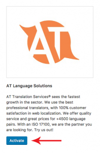 Activating AT Language Solutions