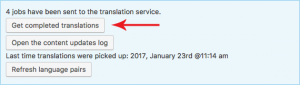 Fetching completed translations manually