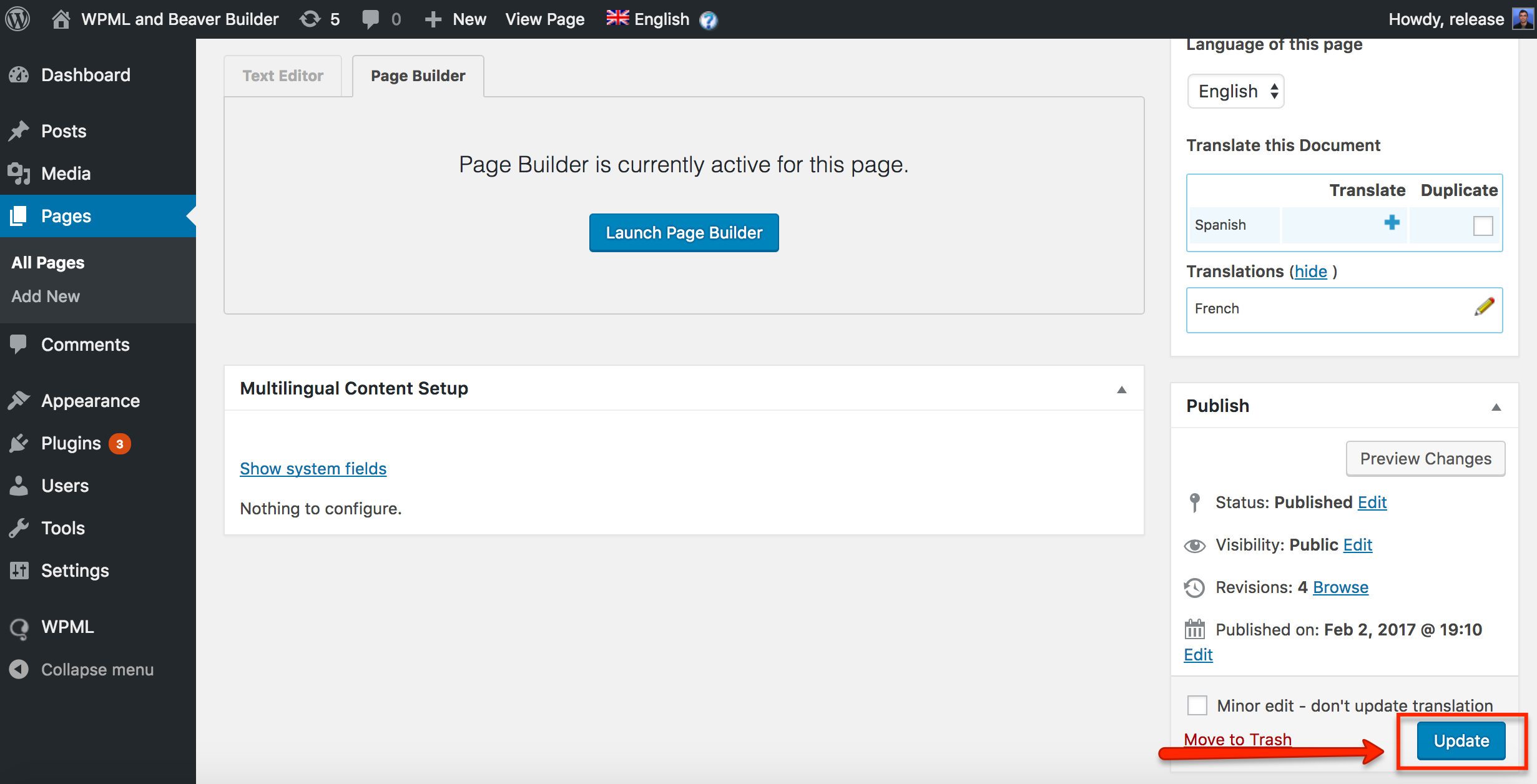 How to build multilingual sites with beaver builder and wpml after updating the pen will become an arrow and you will be able to translate your new module click on the arrow to translate and load wpml translation solutioingenieria Images