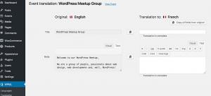 Translating an Event using the Translation Editor