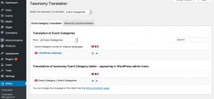WPML page for translating taxonomies
