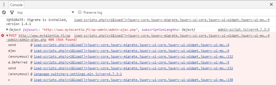 Stuck on setup step 3  Getting admin-ajax php 404 error  - WPML