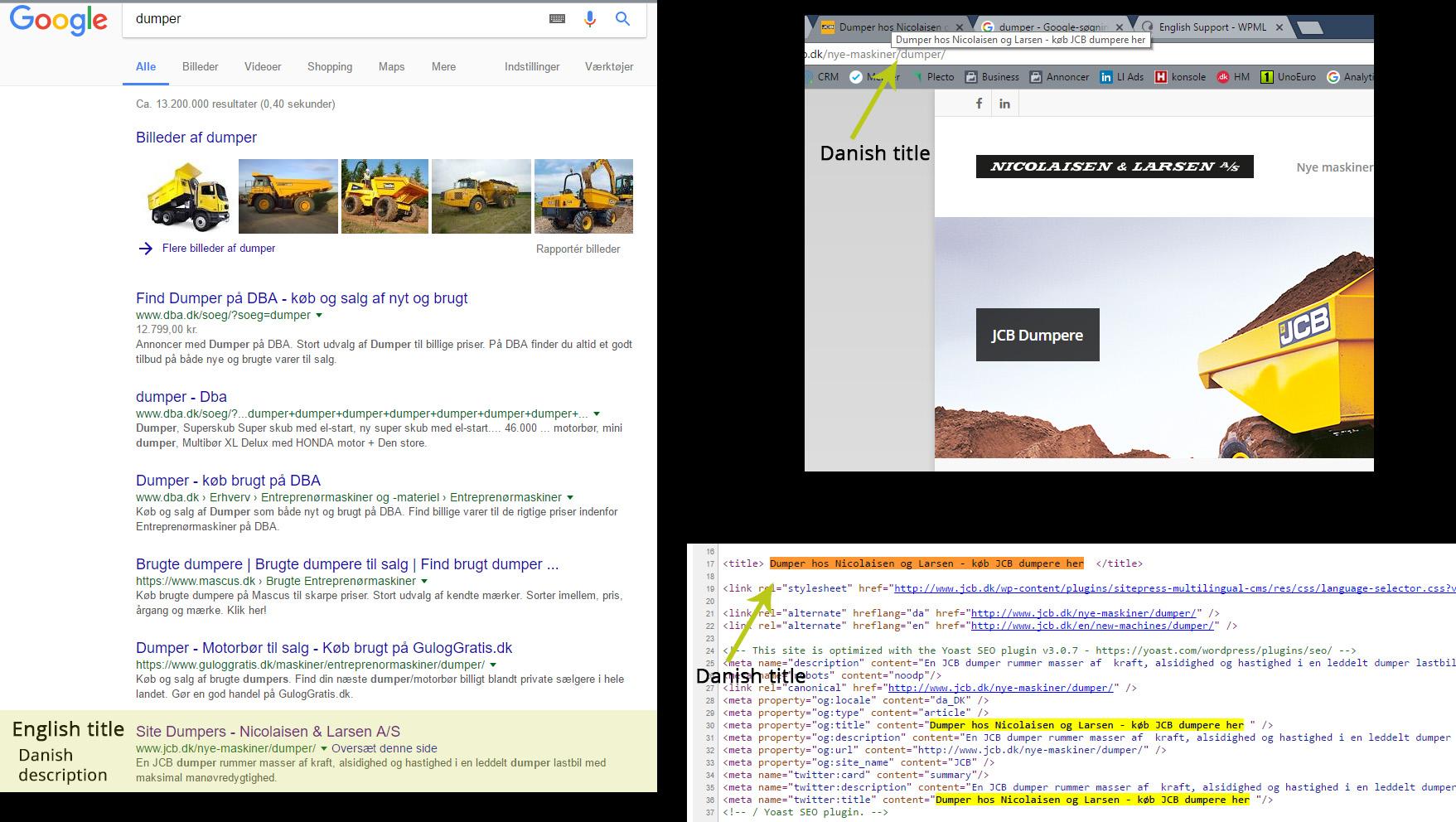 google index wrong meta title wpml