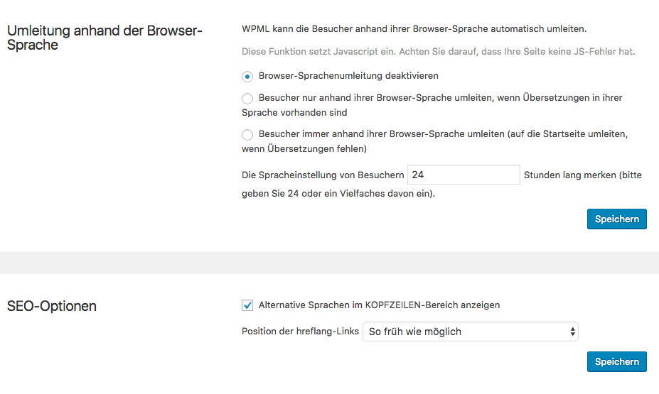 new pages with translation are not indexed by google wpml