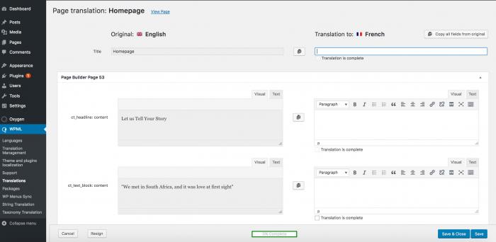 WPML Translation Editor and Oxygen