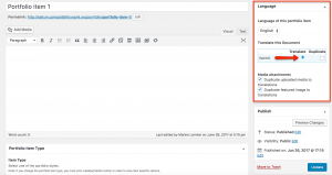Using WPML to translate