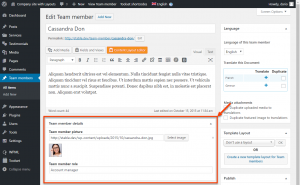 Custom fields when editing a Team members custom post type