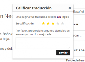 When rating is three stars or less, an additional text field is displayed