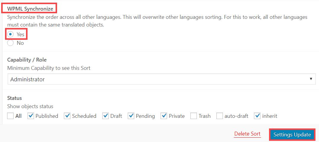 Build multilingual WordPress sites using Advanced Post Types Order
