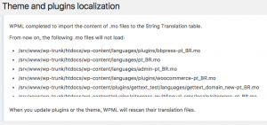 String Translation loaded all the translations from the .mo files into the database