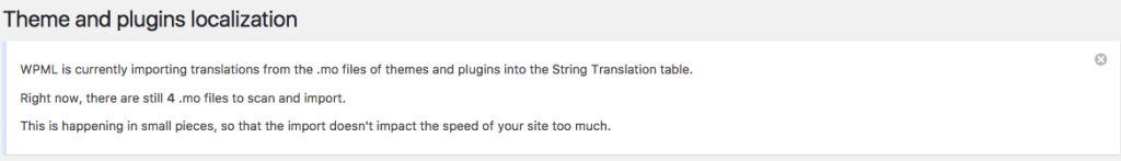 String Translation is loading all the translations from the .mo files