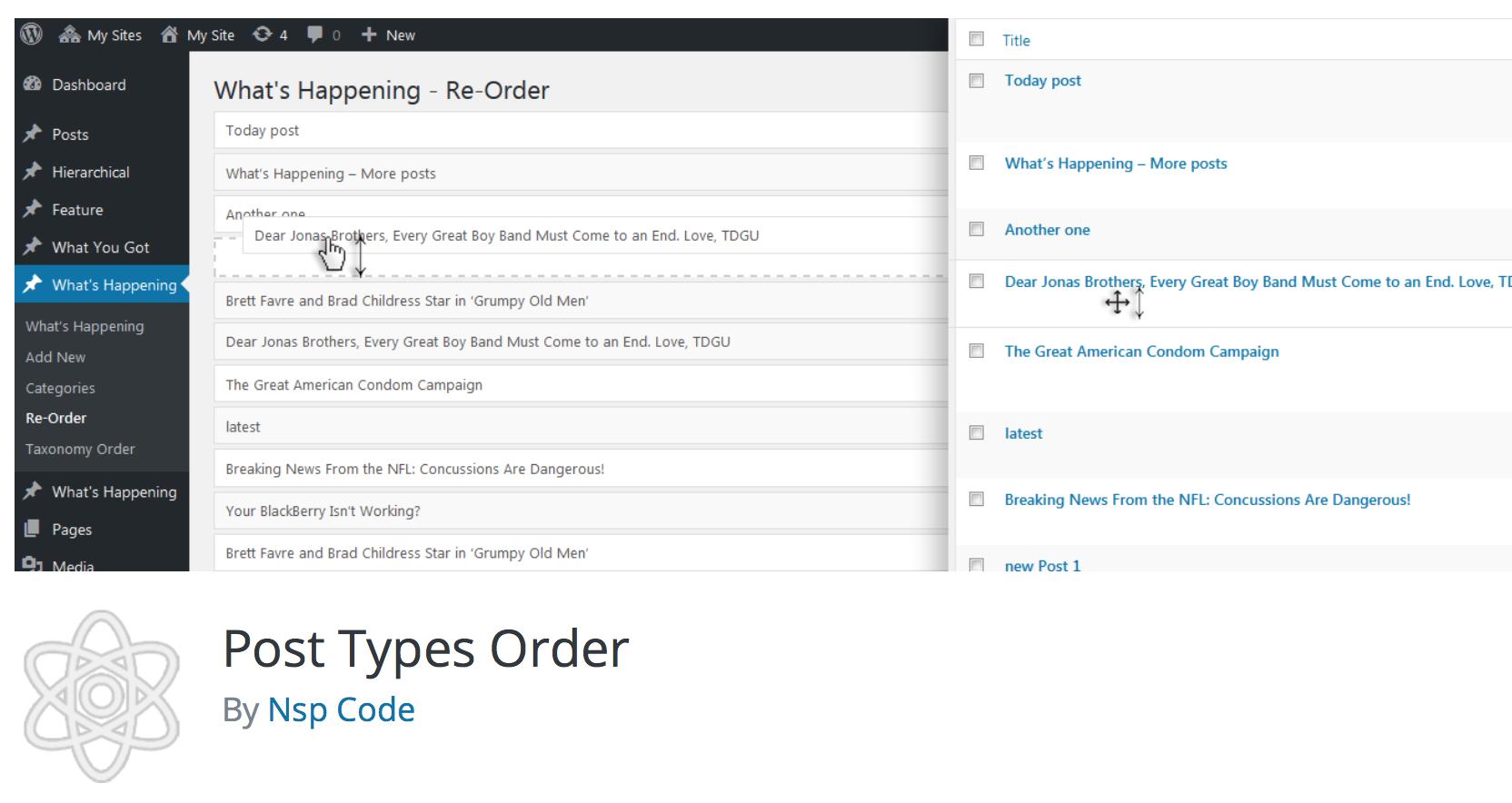 Post Types Order plugin img