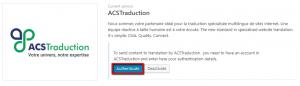 Authentification d'ACSTraduction