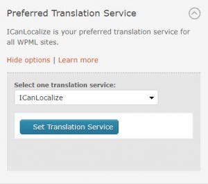 Selected Preferred Translation Service