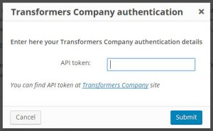 Translation Service authentication popup