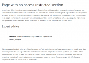 Restricting specific parts of pages otherwise viewable by everyone