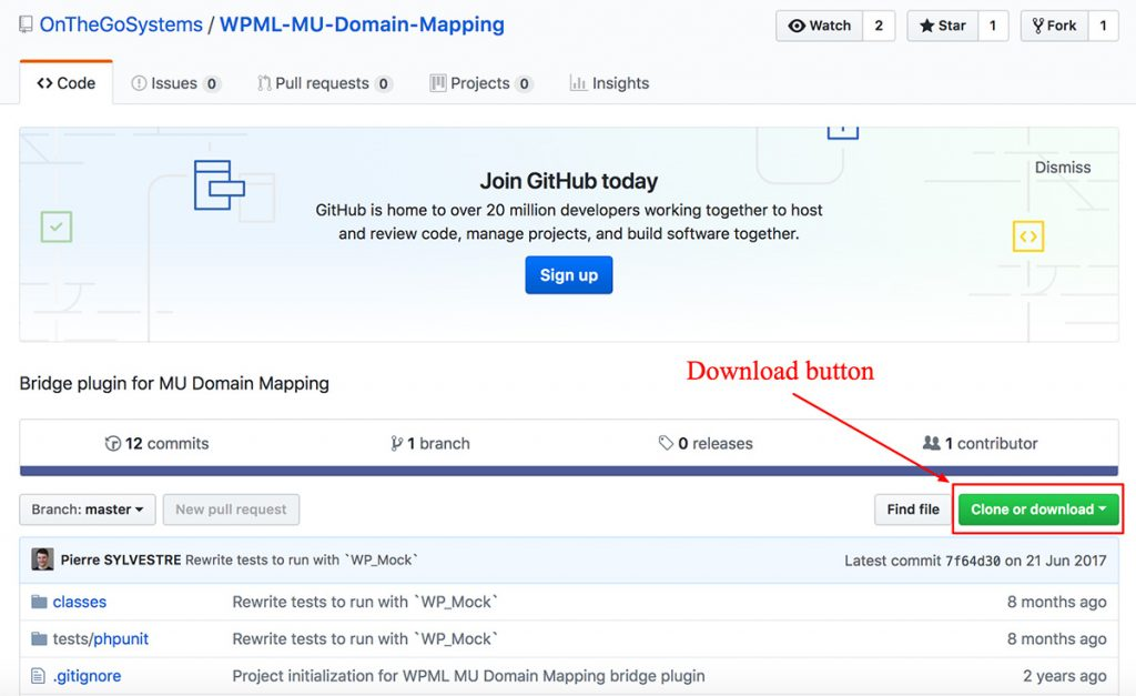Download WPML-MU-Domain-Mapping from GitHub
