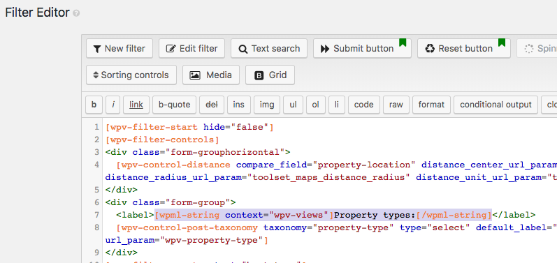 Adding filters-by-distance in Toolset and making some of your form fields WPML ready