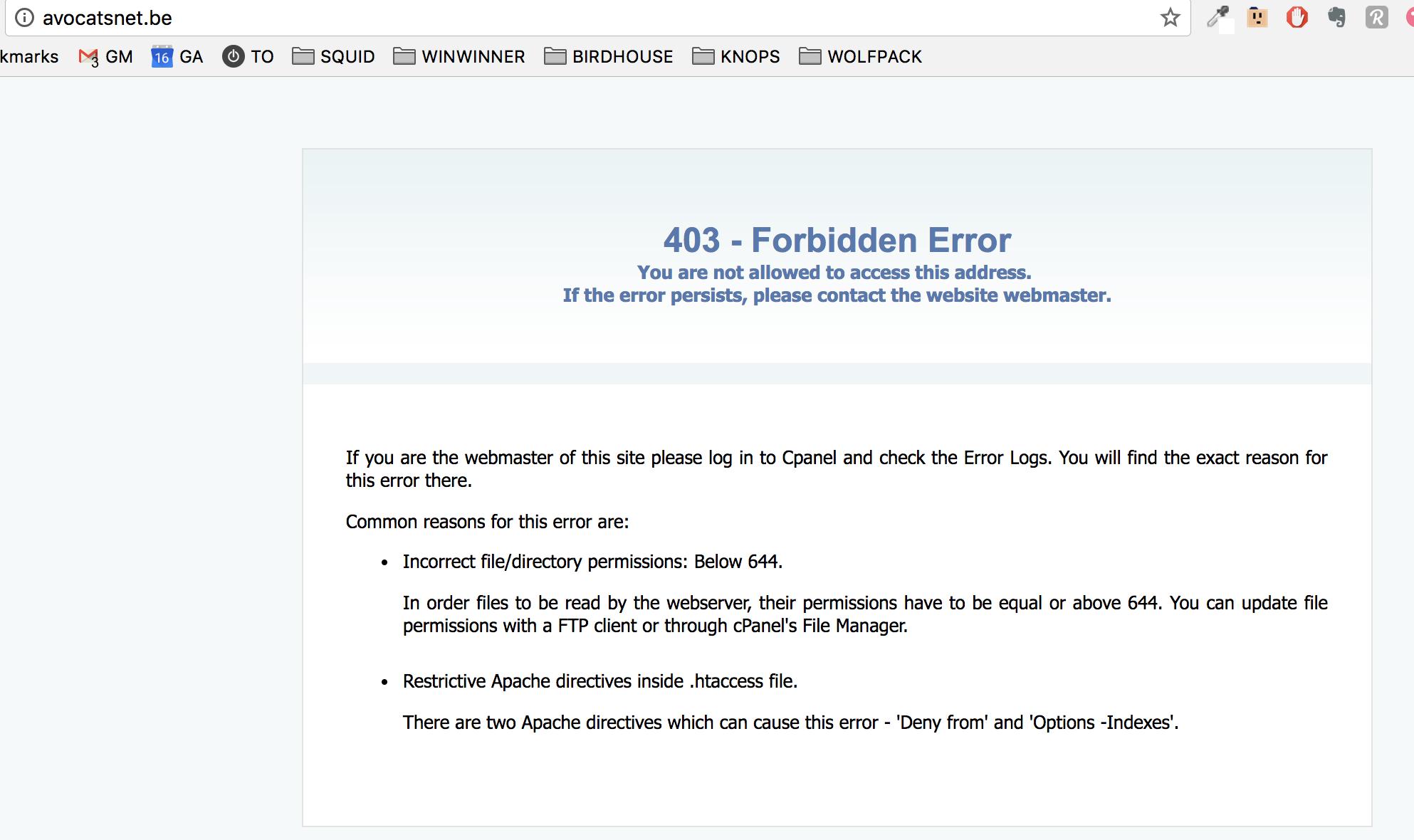 Apache Forbidden 403